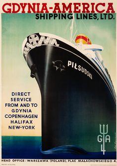 Szparkowski, Eug. poster: Gdynia-America Shipping Lines, Ltd.
