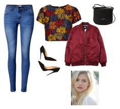 """""""Amber"""" by cmw322 on Polyvore featuring Lancaster, WithChic, Alice + Olivia, Stussy and Christian Louboutin"""