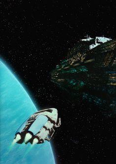 "cinemagorgeous: ""Fantastic sci-fi art by the brilliant Rolf Mohr. Arte Sci Fi, 70s Sci Fi Art, Classic Sci Fi, Science Fiction Art, Scion, Sci Fi Fantasy, Retro Art, Artist At Work, Digital Illustration"