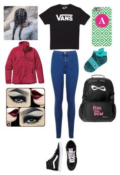 """""""School today!"""" by one-of-those-nights ❤ liked on Polyvore featuring Vans, Miss Selfridge and Patagonia"""