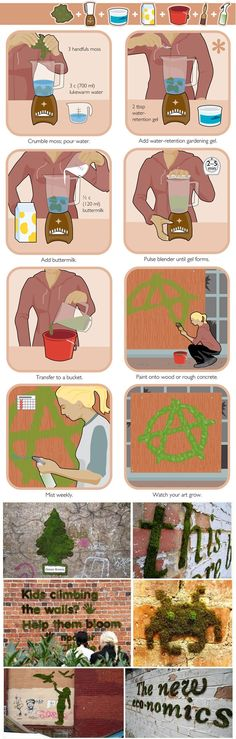 How to make moss graffiti