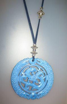 Collar - Colgante de jade azul www.angelscanut.com Barcelona