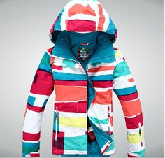 Gsou snow Women's ski jackets/winter outdoor sports Skiwear,Snowboard clothing,thermal wear,Waterproof/windproof,color stripe-in Jackets from Apparel & Accessories on Aliexpress.com