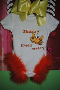 Happy Crabby Baby by Nameitgotit on Etsy, $15.00