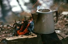 Coffee Pot on a Campfire