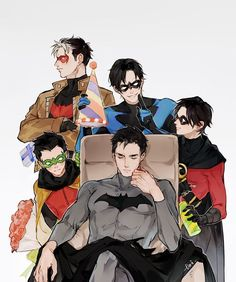 When batman looks just as young as dick and jason