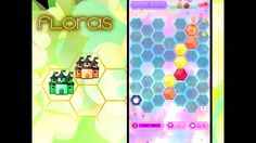 You've been transported to the world of Floras. By noble decree, you are tasked to build a floral kingdom on a magical hexagonal land where colorful flowers blossom all seasons and the sky rains potpourris day and night.   6 is a sacred number in Floras. Slide your finger in one of 6 directions to place a new color tile on a hexagonal grid (6 again!). Adjoining tiles of the same color fuse to become a higher level tile.