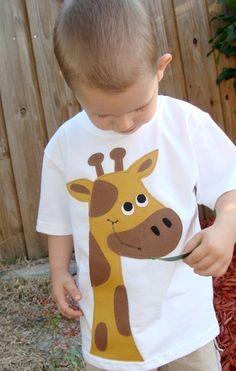 Patches The Giraffe Zoo Boys Custom Applique Tshirt by OhBananas, $22.00