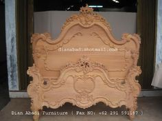 Unfinished mahogany Furniture,  French Heavy carved wooden bed, made of fine solid kiln dry mahogany wood. Present in unfinished furniture condition ( raw furniture, ready to painted or no color stain finished ). Please contact us Antiques Indonesian Furniture supplier, French style furniture, Italian style furniture, English style furniture : Email :dianabadi@hotmail.com Facsimile & Phone : + 62 291 591187  www.unfinishedfurniture.indonetwork.co.id