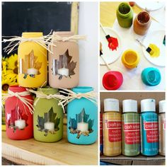 Fall Mason Jar Craft - Sugar Bee Crafts