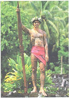 Tahiti tattoo - Warrior