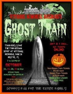 Veterans Memorial Railroad's Ghost Train...come ride if you dare!