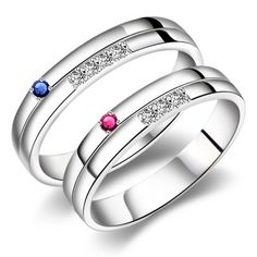 Personalized Korean Promise Couples Rings Bands for Two