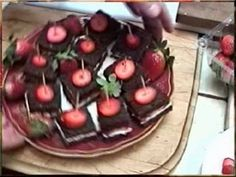 Strawberry Sandwiches that were made and presented for a Murder Mystery Dinner Party. Created by Author