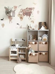 50 Clever Kids Bedroom Storage Ideas You Won't Want To Miss Childrens Toy Storage, Baby Toy Storage, Toy Storage Boxes, Storage Hacks, Storage For Toys, Tv Storage, Record Storage, Fabric Storage, Kids Storage Baskets