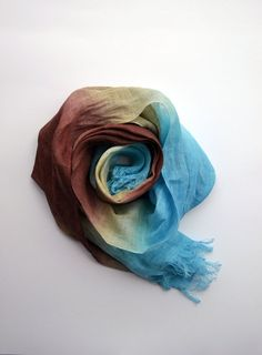 Long Linen Spring Scarf  Infinity Linen Scarf  Circle by lyralyra