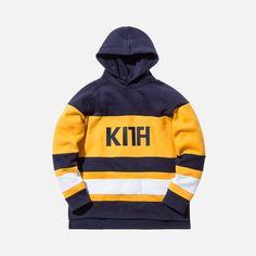 Kith Delk Hoodie - Yellow / Navy