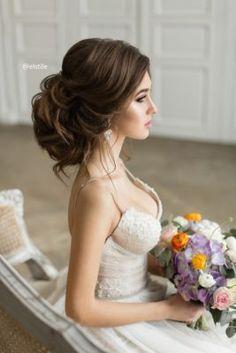 Wedding Hairstyle Inspiration – Elstile – Up Hairstyles Hairdo Wedding, Wedding Hair And Makeup, Bridal Hair, Dress Wedding, Chic Wedding, Trendy Wedding, Wedding Ceremony, Wedding Hairstyles For Long Hair, Bride Hairstyles