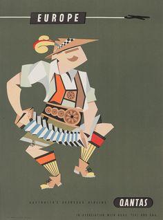 Qantas Vintage Poster