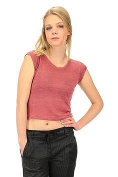 Majestic filatures - T-Shirts - Abbigliamento - T-shirt in maglina di lino  a girocollo, manica corta.La nostra modella indossa la taglia /EU S. - 227 - € 70.00