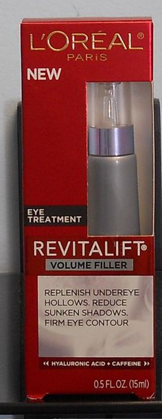 LOreal Paris Revitalift Volume Filler Eye Treatment   ( New In Box)