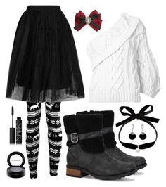 """""""Seasonal Standout"""" by englinsfinefootwear ❤ liked on Polyvore featuring UGG Australia, Mateo, Boohoo, Topshop, Rosie Assoulin, Bling Jewelry, MAC Cosmetics, NARS Cosmetics and Cara"""