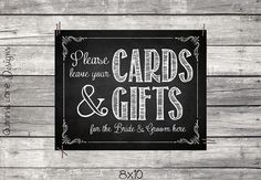 Cards and Gifts Table Chalkboard Sign  by QuinnAndLaneDesigns, $3.00