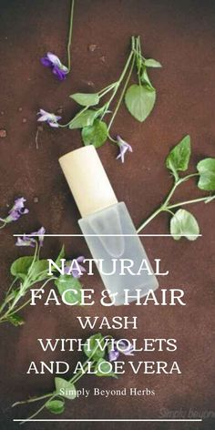 Made of natural moisturizers and packed with antioxidants, this easy to make a violet face and hair natural wash will keep your face and hair smooth and hydrated. #diyskincare, #facewash, #hairrinse,#naturalfacewash Natural Face Wash, Natural Skin Care, Face E, Face And Body, Natural Essential Oils, Natural Oils, Hair Rinse, Natural Moisturizer, Smooth Hair