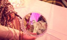 Bengali wedding mirror tradition :)