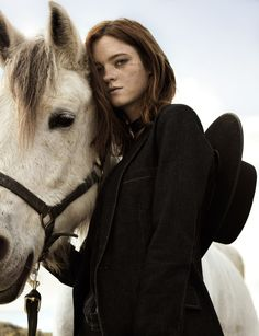 Stacy Koren for Glamour Spain by Pablo Curto #cowgirl #horse #fashion