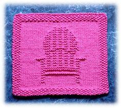 Ravelry: Deck Chair Dishcloth pattern by Rachel van Schie Knitting Squares, Dishcloth Knitting Patterns, Crochet Dishcloths, Knitting Kits, Arm Knitting, Knit Or Crochet, Knitting Stitches, Crochet Crafts, Knitting Projects