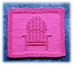 Deck Chair Dishcloth pattern by Rachel van Schie