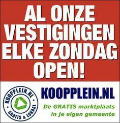 Net als alle andere dagen van de week. 24 uur per dag, 7 dagen per week, 366 dagen per jaar geopend. #Koopplein.nl www.koopplein.nl/middendrenthe