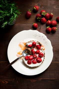 Strawberry and Rosemary-Caramel Buckwheat Tart. The ability to make caramel eludes me, strange because it's one of my favorite flavors. Rosemary-caramel seems wonderful.