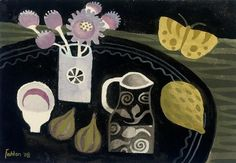 Mary Fedden - yellow butterfly 2008