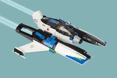 Spitfire Space Fighter by Nick Brick http://flic.kr/p/pVqSKM