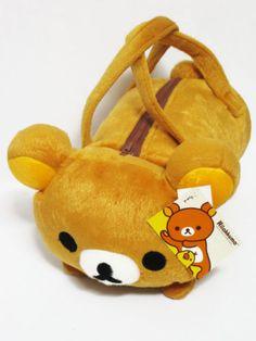 Rilakkuma-Cylinder-Plush-Handbag-Purse-Bag