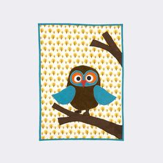 Owl Quilted Blanket Ferm Living