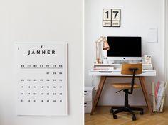 Wandkalender von Falz