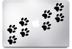 Paw Prints Macbook Decals  $12.99     Dog paws on macbook laptop, decals and stickers