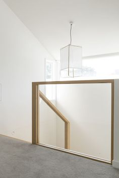 wooden handrails with a glass balustrade