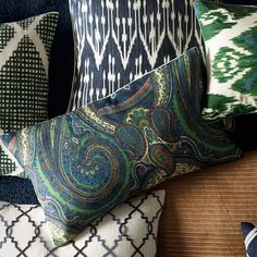 Boteh Paisley Pillow Cover #williamssonoma