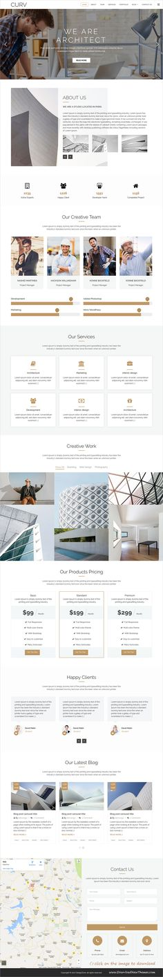 CURV is clean and modern parallax design responsive #HTML template for onepage #architect agencies website with 6+ niche homepage layouts to download click on image.