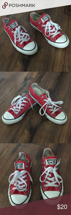 Converse All Star Low Top Sneakers Red