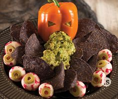 Halloween Guacamole │Tastefully Simple │Ghoulish Gala menu