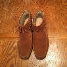 Rustic Brown suede like ankle boots Suede like ankle boots with rubber soles Comfort View Shoes Ankle Boots & Booties