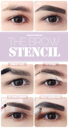 Using eyebrow stencils