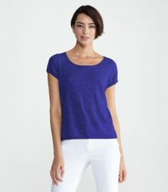 If you are looking for that great tee that is dressy enough to wear to work, look no further.