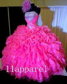 Vestidos De 2015 Novo quinceanera roupa de noiva Pageant formal Prom Dresses Personalizado