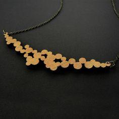 wood lasercut necklace